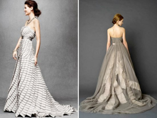 grey silver wedding dresses bhldn 2012 trends