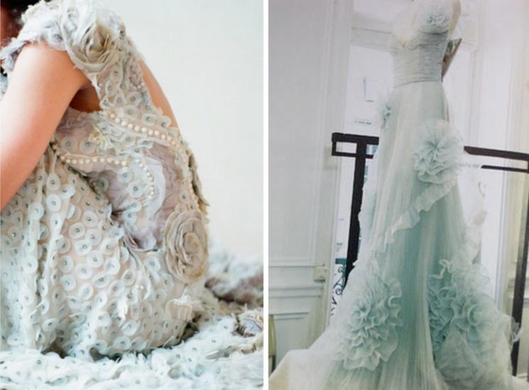 closer fashion news wedding dress inspiration coloured blue offbeat bride