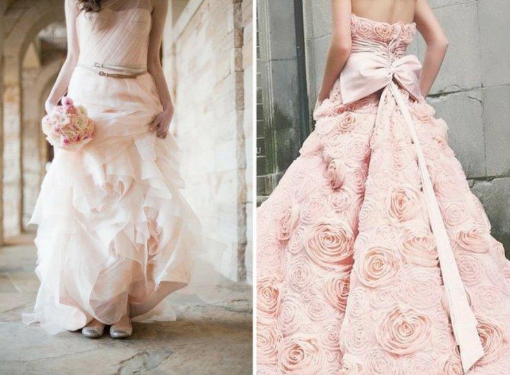 pink wedding dresses 2012 wedding trends