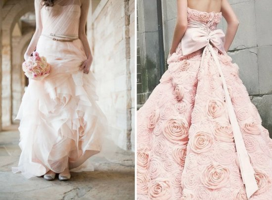 pale pink wedding dresses 2012 wedding trends