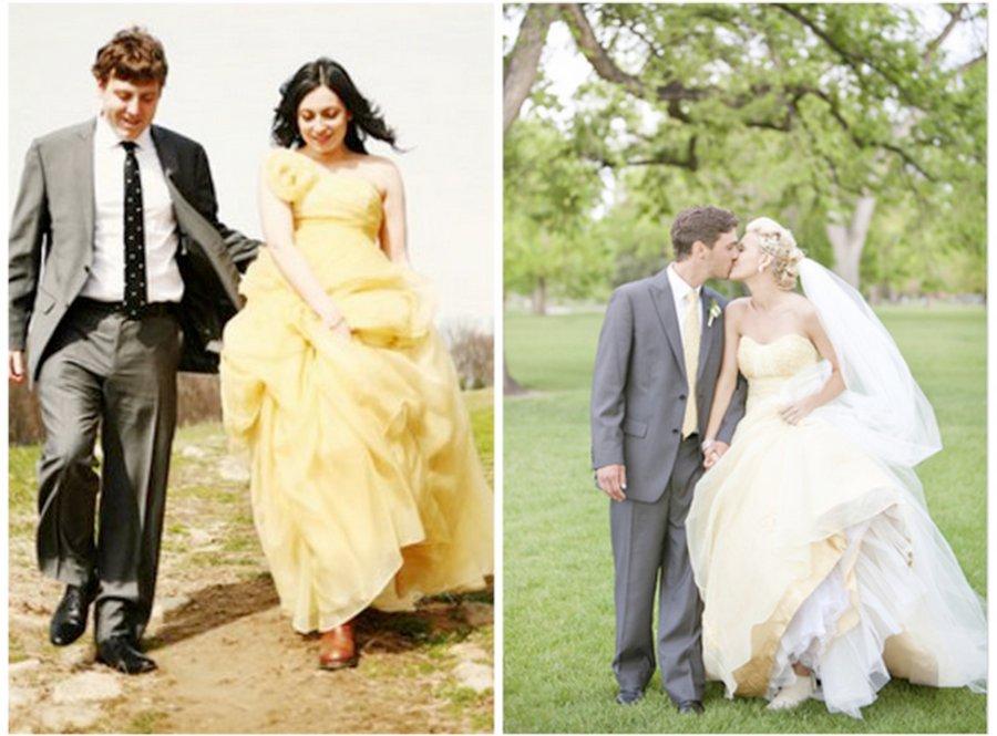Wedding dresses 2012 wedding trends yellow wedding dresses 2012 wedding trends junglespirit Gallery