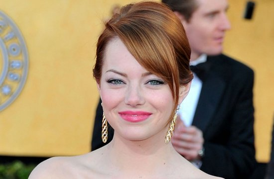 bridal beauty from 2012 sag awards wedding hair makeup emma stone