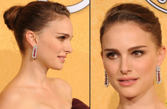 bridal beauty from 2012 sag awards wedding hair makeup natalie portman
