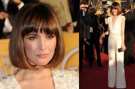 bridal beauty from 2012 sag awards wedding hair makeup rose byrn