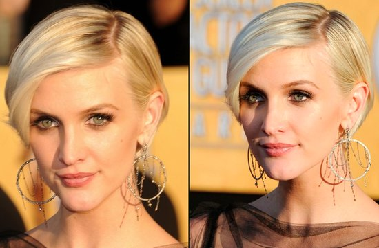 bridal beauty from 2012 sag awards wedding hair makeup ashlee simpson