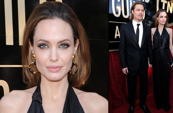 bridal beauty from 2012 sag awards wedding hair makeup angelina jolie