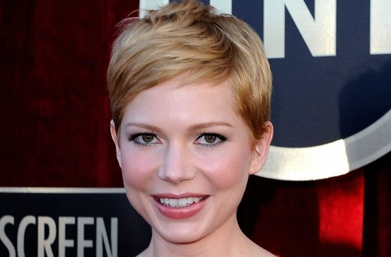 bridal beauty from 2012 sag awards wedding hair makeup michelle williams