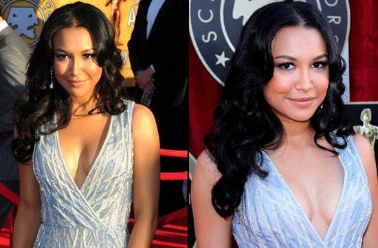 bridal beauty from 2012 sag awards wedding hair makeup naya rivera