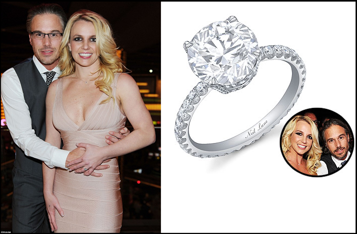 celebrity engagements britney spears engagement ring | OneWed.com