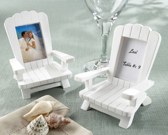 Beach chair wedding favors