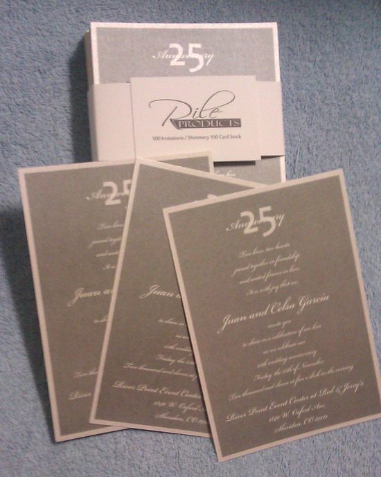25 invite sample