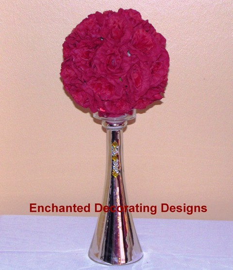 printed 9 inch ball with vase