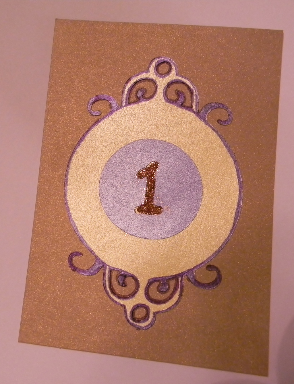 Table Number Sample