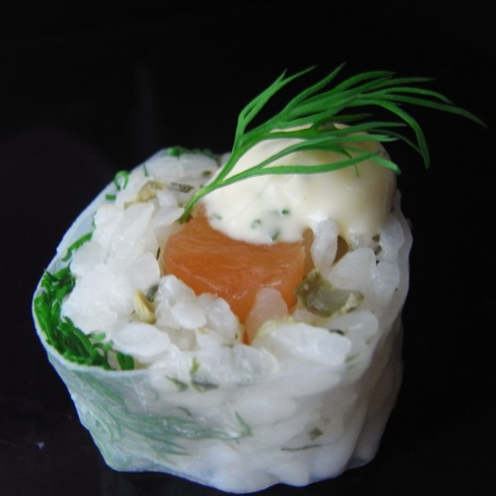 Scottish Salmon Summer Roll