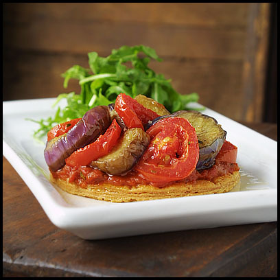 Eggplant and Red Plum Tomato Tart