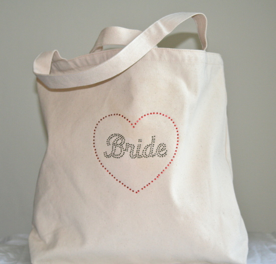 Tote Bag with Black Bride