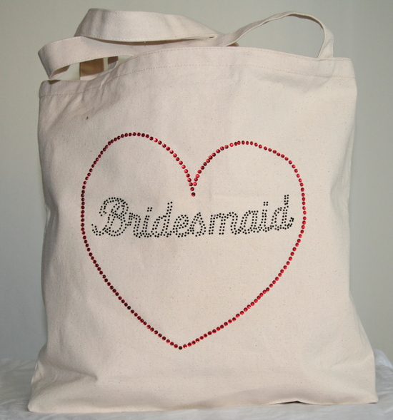 Tote Bag with Black Bridesmaid