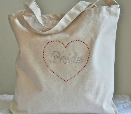 Tote Bag with Silver Bride