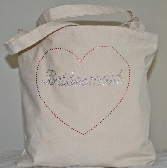 Tote Bag with Silver Bridesmaid