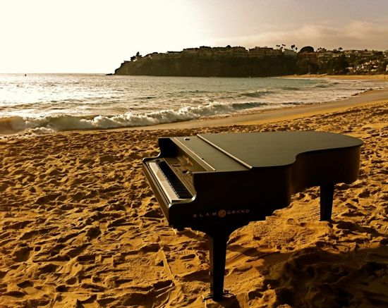 My new Slam Grand Piano shell at Emerald Bay Beach