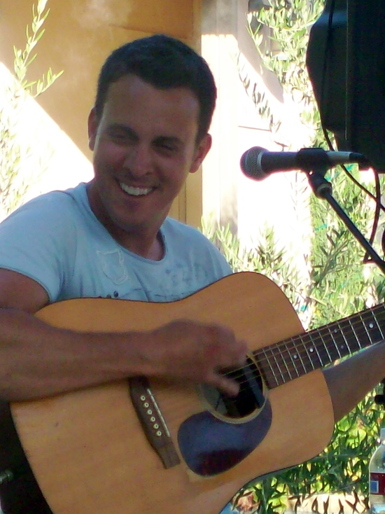 Brian performing at Mt. Palomar Winery.