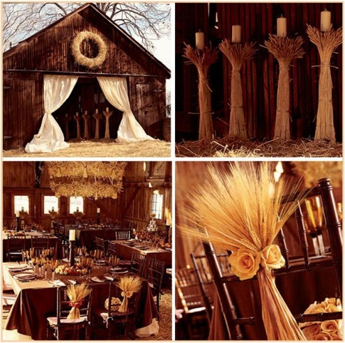 Rustic Wedding Reception Theme