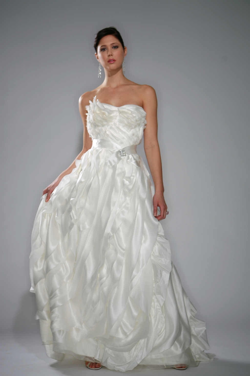 La-scala-white-strapless-dramatic-wedding-dress-sash-at-waist-rhinestone-detail.full