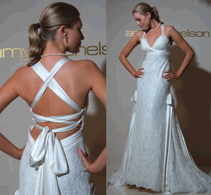 Amy michelson wedding dress white heavy silk charmeuse covered fancy junglespirit Gallery