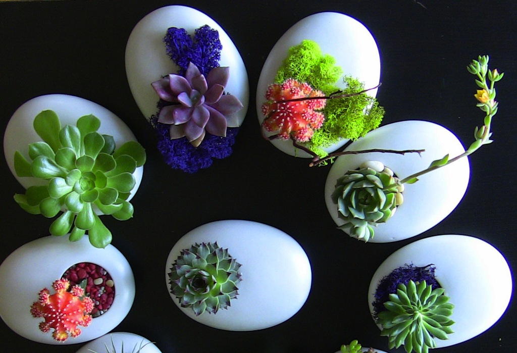 Simple Wedding Centerpieces For A Handcrafted Wedding White Egg Like