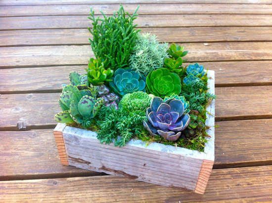 simple wedding centerpieces for a handcrafted wedding green purple in wood box