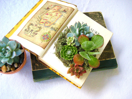 simple wedding centerpieces for a handcrafted wedding succulent centerpiece with vintage books