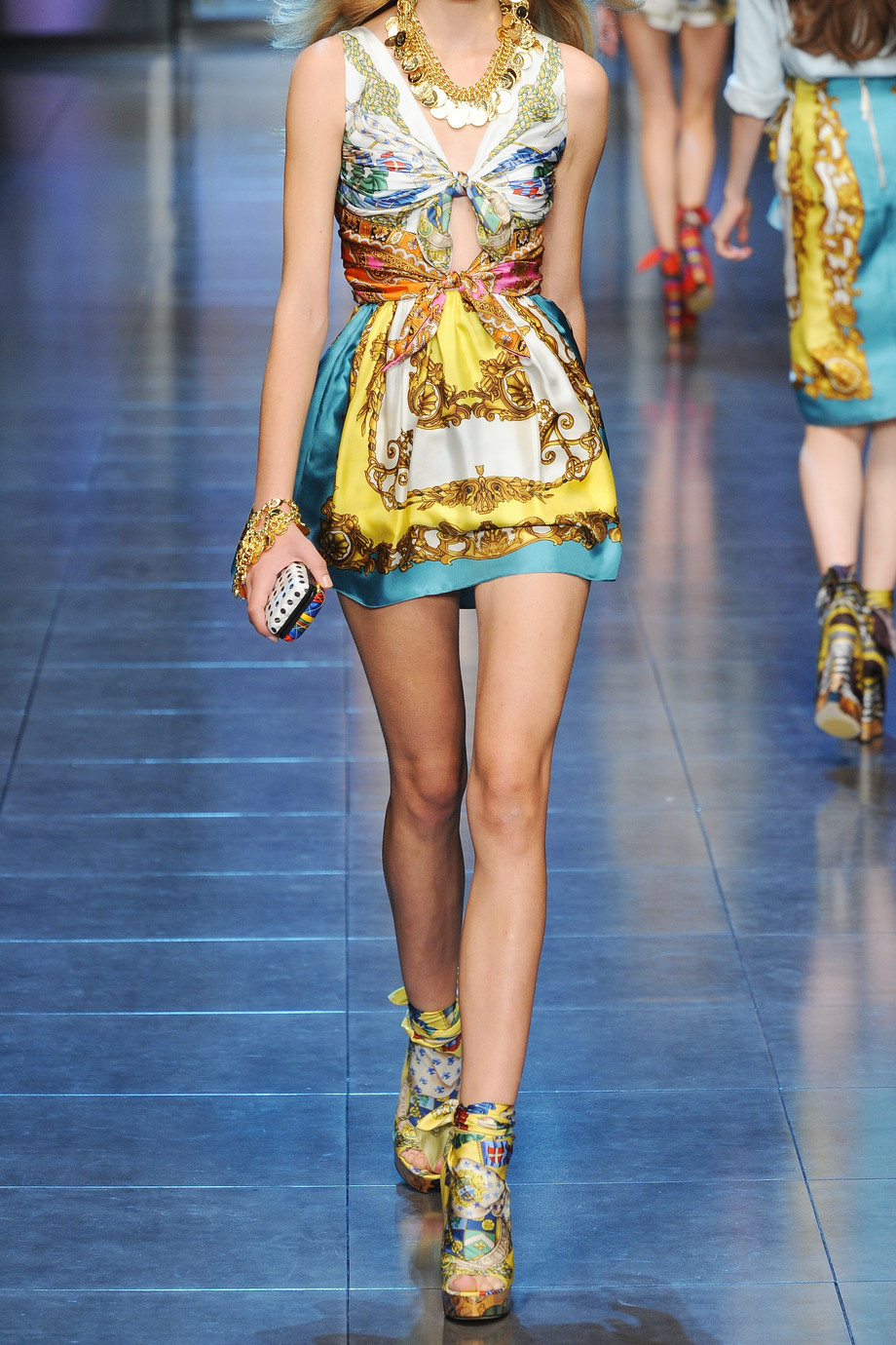 96daaa00 dolce gabbana printed summer dress wedding guest dressing what NOT to wear  bare to clothed ratio