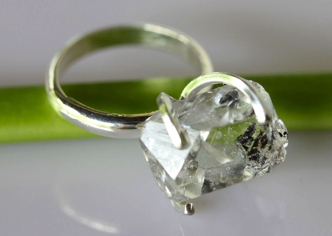 unique engagement rings wedding bands on etsy herkimer diamond recycled