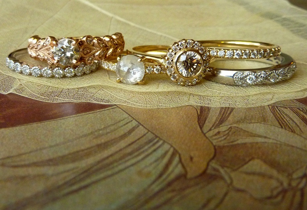 engagement rings wedding bands on etsy yellow rose gold platinum
