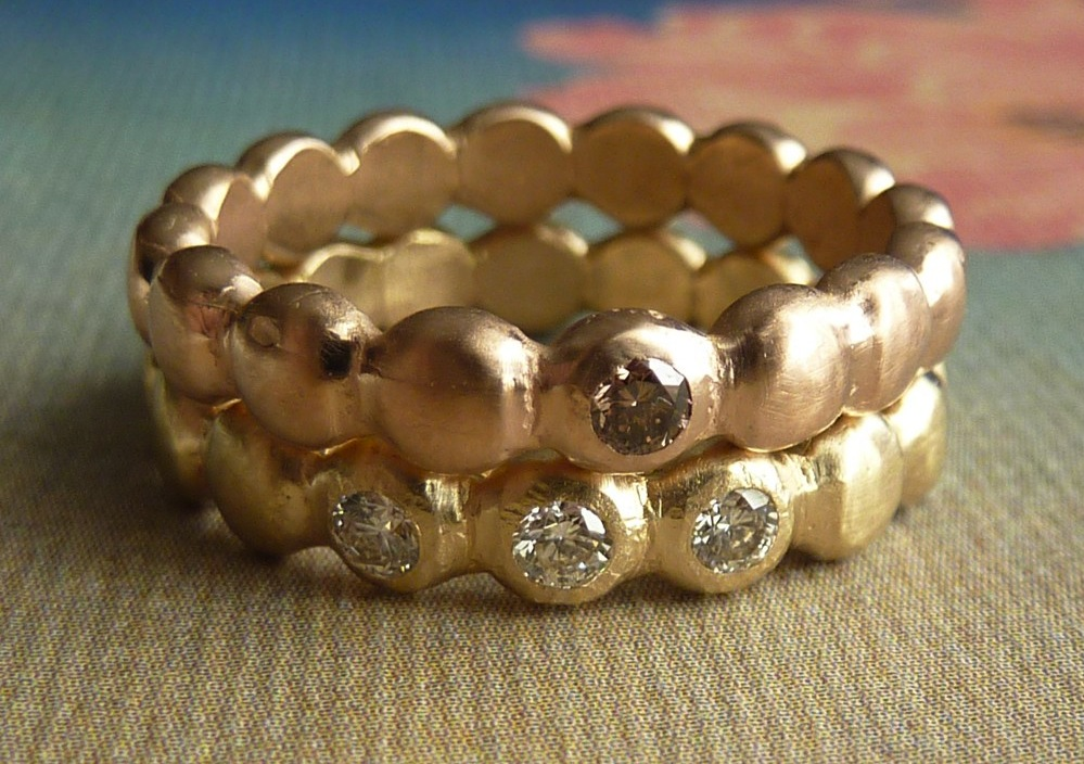 Unique-engagement-rings-wedding-bands-on-etsy-rose-gold-yellow-gold-beaded-bands.original