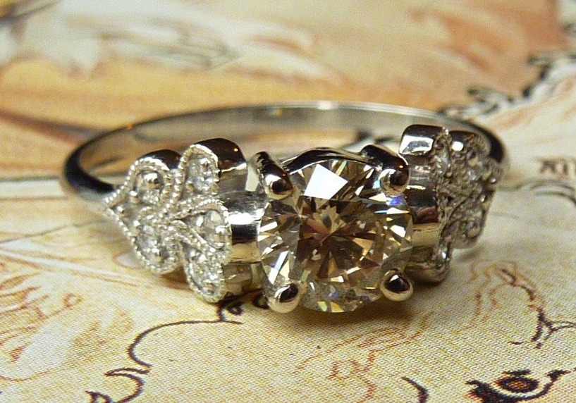 unique engagement rings wedding bands on etsy vintage