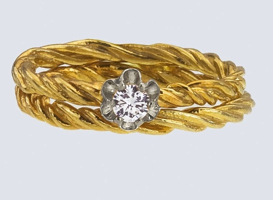 unique engagement rings wedding bands from Etsy yellow gold braided band