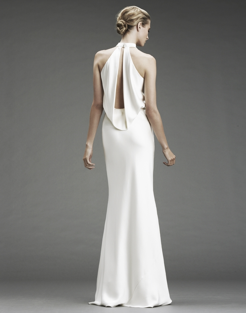 Nicole-miller-wedding-dresses-deep-v-neck-silk-cowl-neck-ribbon-tie-waist-ivory-dp0019-back.full