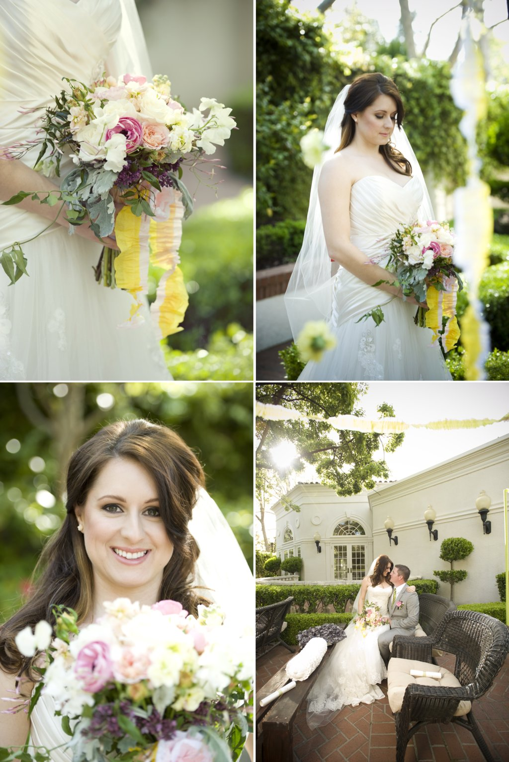 whimsical garden wedding romantic bridal bouquet outdoor wedding details