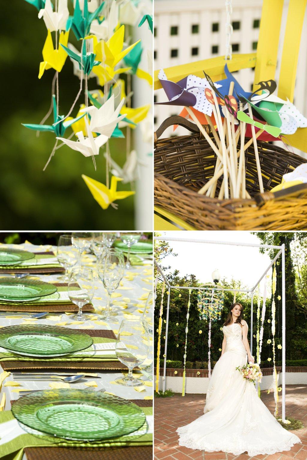 Whimsical-garden-wedding-paper-cranes-pinwheels.full