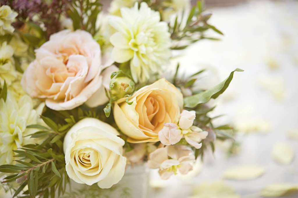 Whimsical-garden-wedding-romantic-wedding-flowers-peach-ivory-roses.full