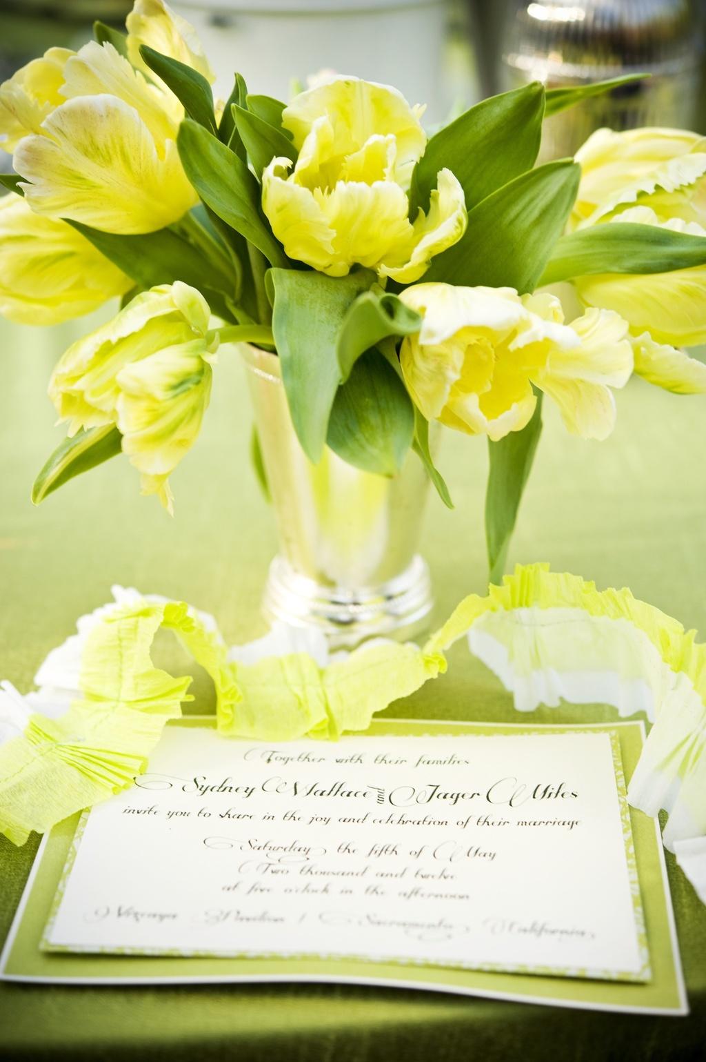 Bright-neon-wedding-flowers-silver-vases-garden-wedding.full