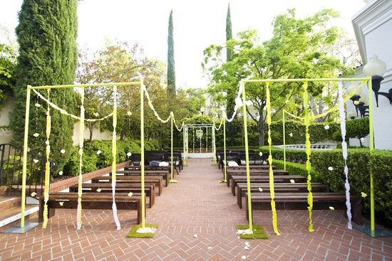 whimsical garden wedding outdoor ceremony