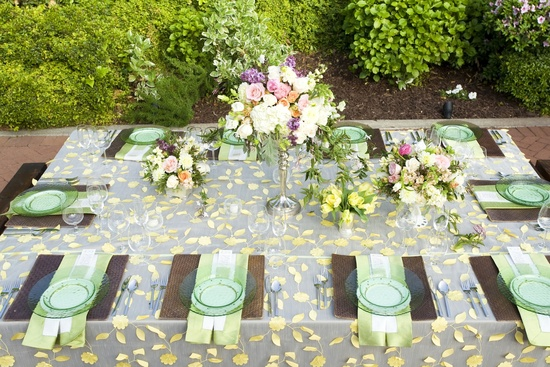 whimsical garden wedding romantic wedding centerpieces tablescape