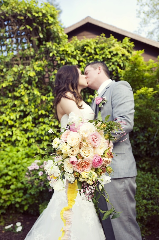 whimsical garden wedding romantic bridal bouquet