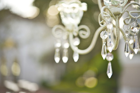 elegant garden wedding chandelier