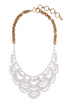 jewelry necklace elizabeth cole laced with crystal 0