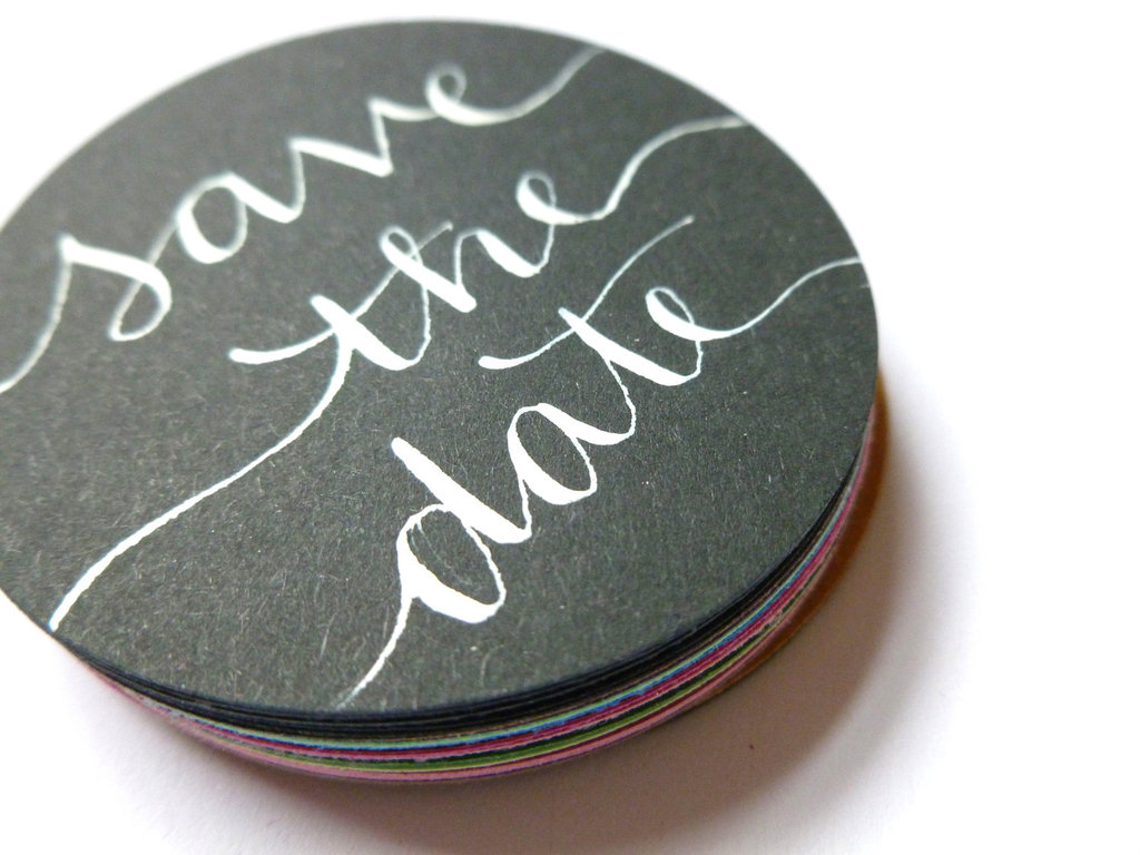 Gorgeous-wedding-invitations-hand-calligraphy-wedding-stationery-round-save-the-date.full