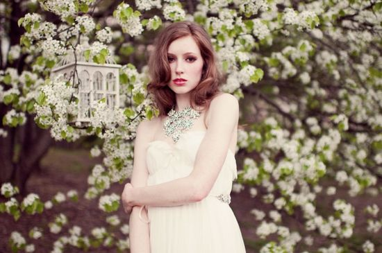 romantic wedding accessories Enchanted Atelier bridal jewelry statement necklace