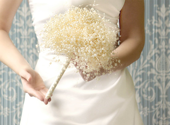 wedding flower alternatives bridal bouquets from Etsy beads pearls